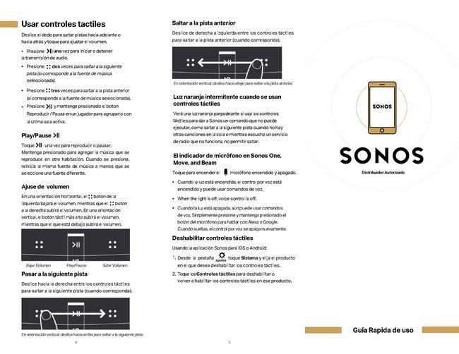 Guía rápida de Sonos pág.1